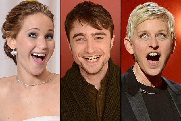 Jennifer Lawrence Daniel Radcliffe Ellen DeGeneres