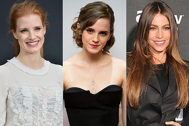 Jessica Chastain Emma Watson Sofia Vergara