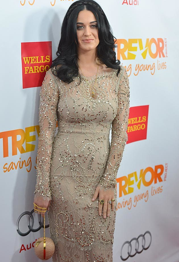 Katy Perry Gold Marchesa