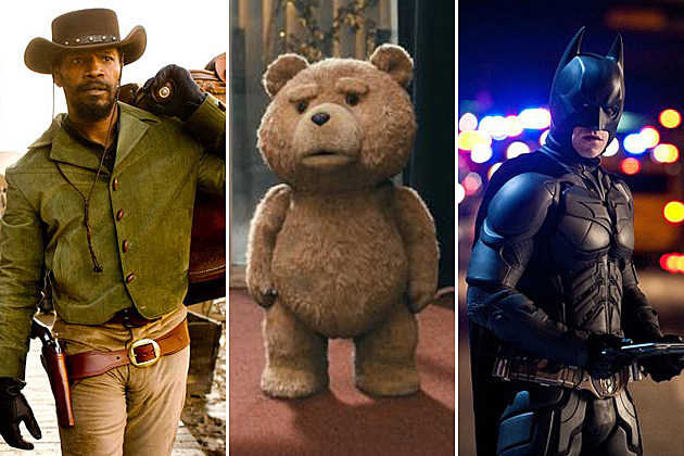 2013 MTV Movie Awards Nominations Django Unchained Ted The Dark Knight Rises