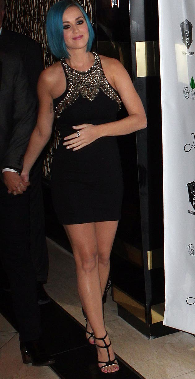 Katy Perry Alexander McQueen Black Dress