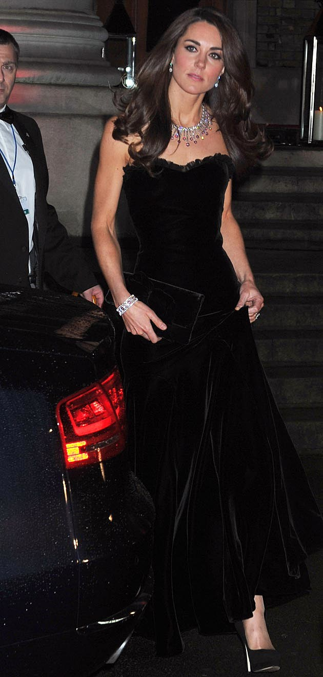 Kate Middleton Alexander McQueen Black Velvet