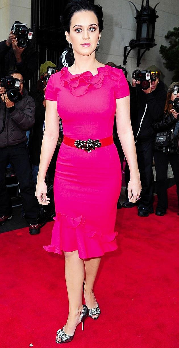 Katy Perry Pink Oscar De La Renta Billbaord