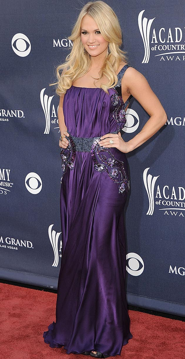 Carrie Underwood Purple Jean Fares Couture