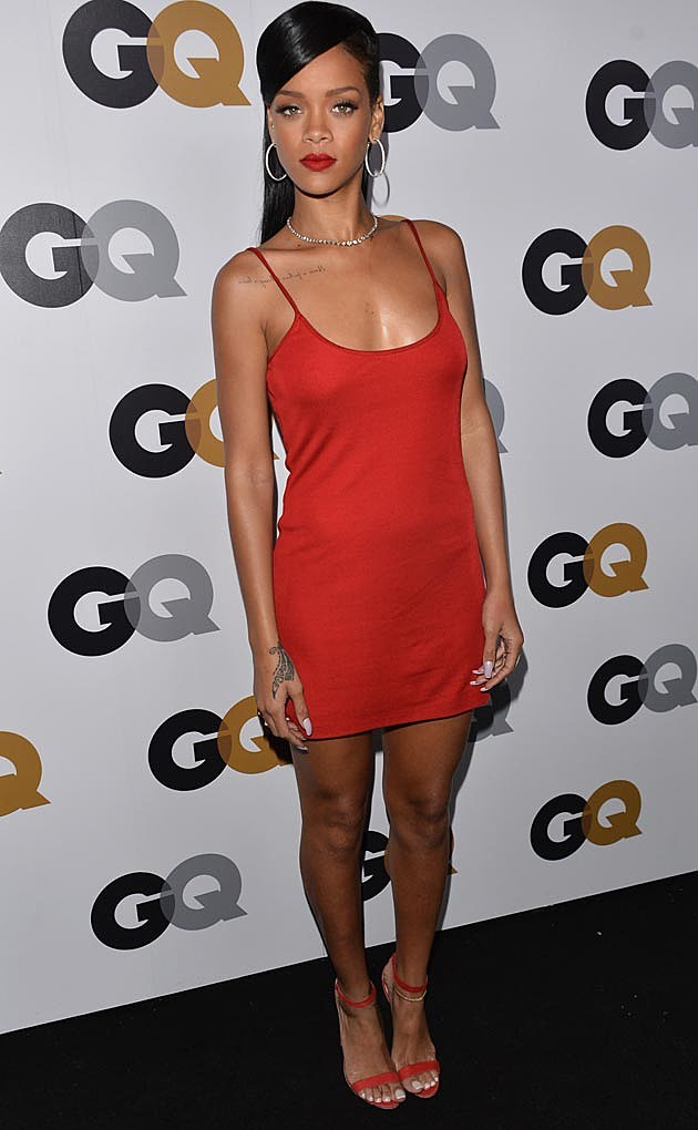 Rihanna Red Calvin Klein Mini