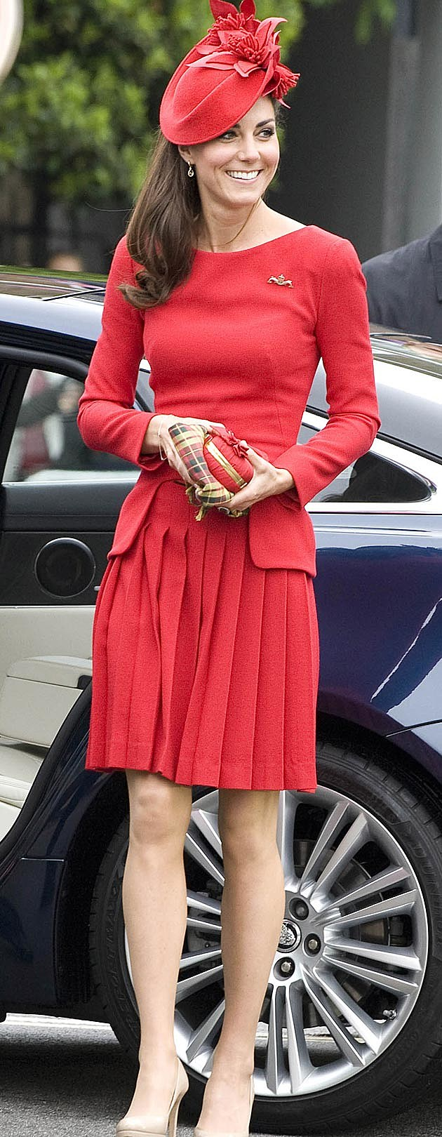 Kate Middleton Red McQueen Wool Crepe