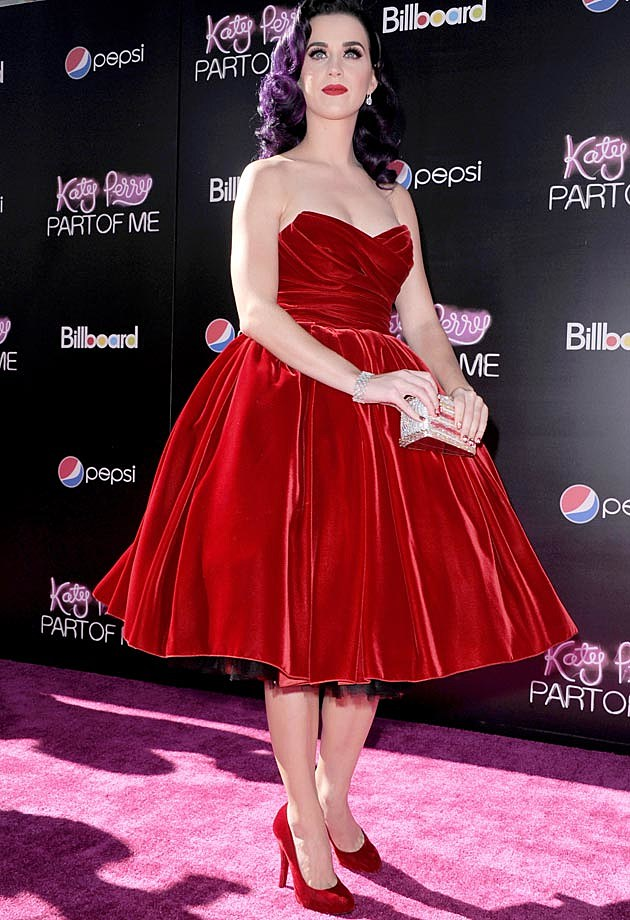 Katy Perry Red Velvet Dolce & Gabbana Part of Me Movie Premiere