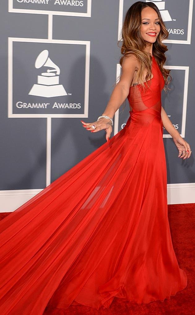 Rihanna Alaia 2013 Grammys