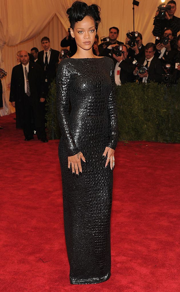 Rihanna 2012 Metal Gala Tom Ford Croc Black