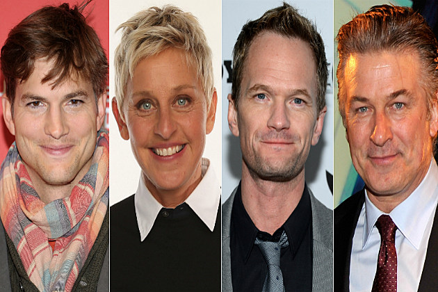 What were the first tweets of Ashton Kutcher, Ellen Degeneres, Neil Patrick Harris and Alec Baldwin?