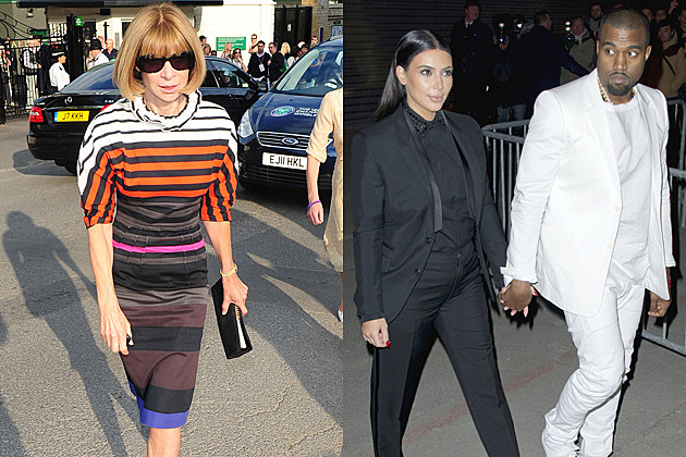 Anna Wintour, Kim Kardashian, Kanye West