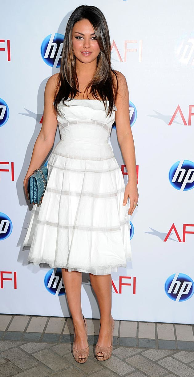 Mila Kunis Victoria Beckham White