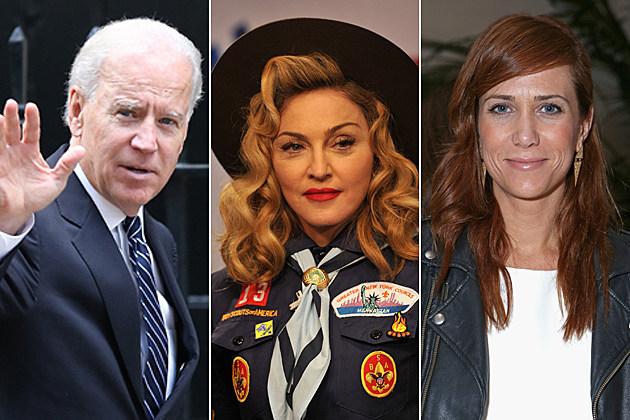 Joe Biden Madonna Kristen Wiig