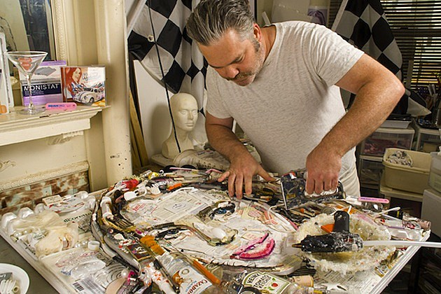 Jason Mecier Lindsay Lohan Garbage Art