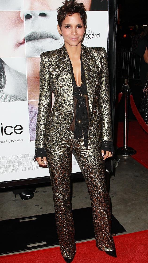 Halle Berry Balmain Pantsuit