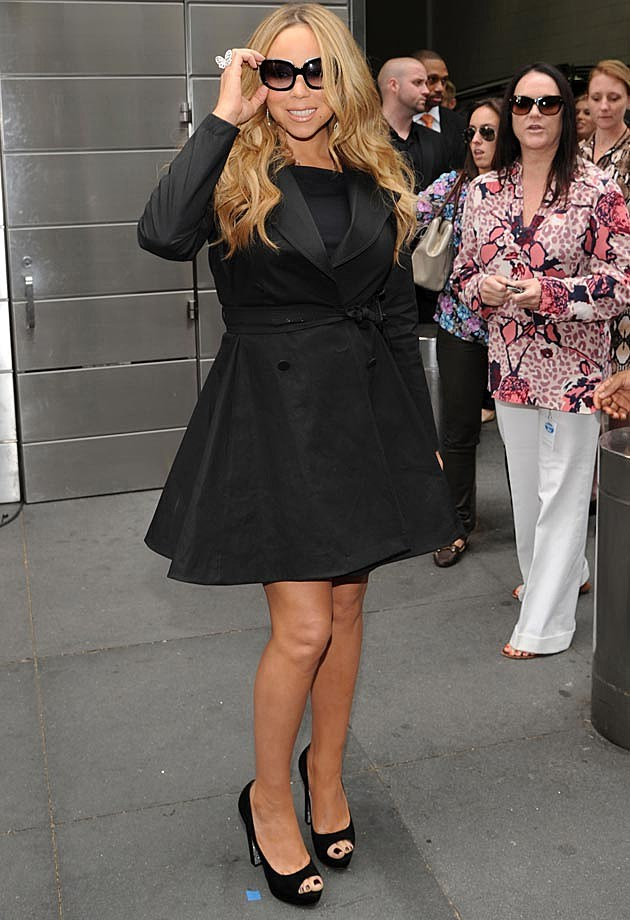 Mariah Carey Black Coat