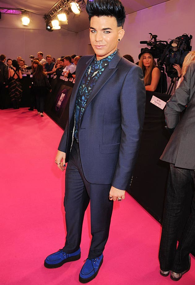 Adam Lambert Blue Suit