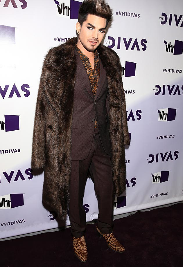 Adam Lambert Brown Fur