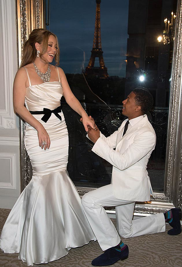 Mariah Carey Dolce & Gabbana Fishtail Wedding