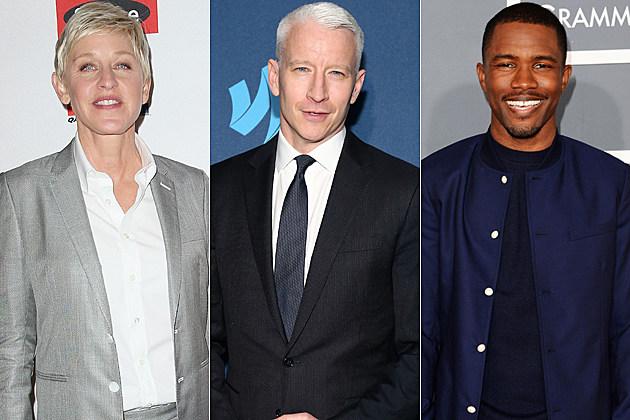 Ellen DeGeneres Anderson Cooper Frank Ocean