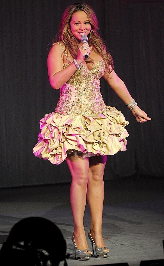Mariah Carey Gold Gibson Dress