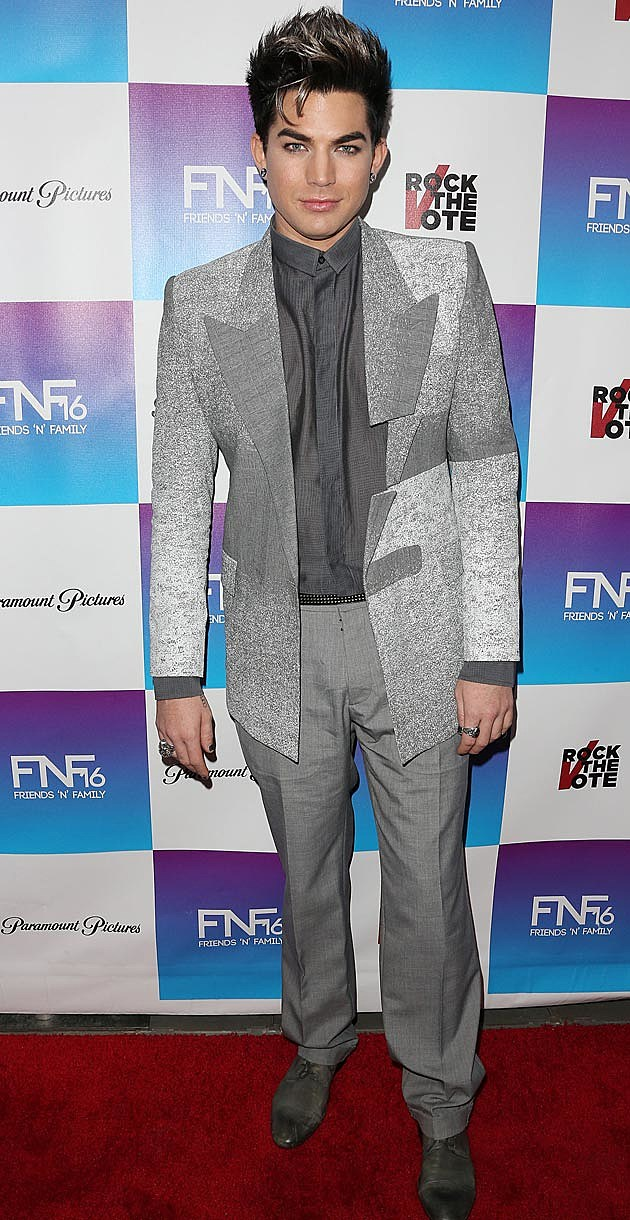 Adam Lambert Silver Suit