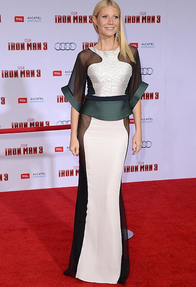 Gwyneth Paltrow Iron Man 3 Premiere Antonio Berardi