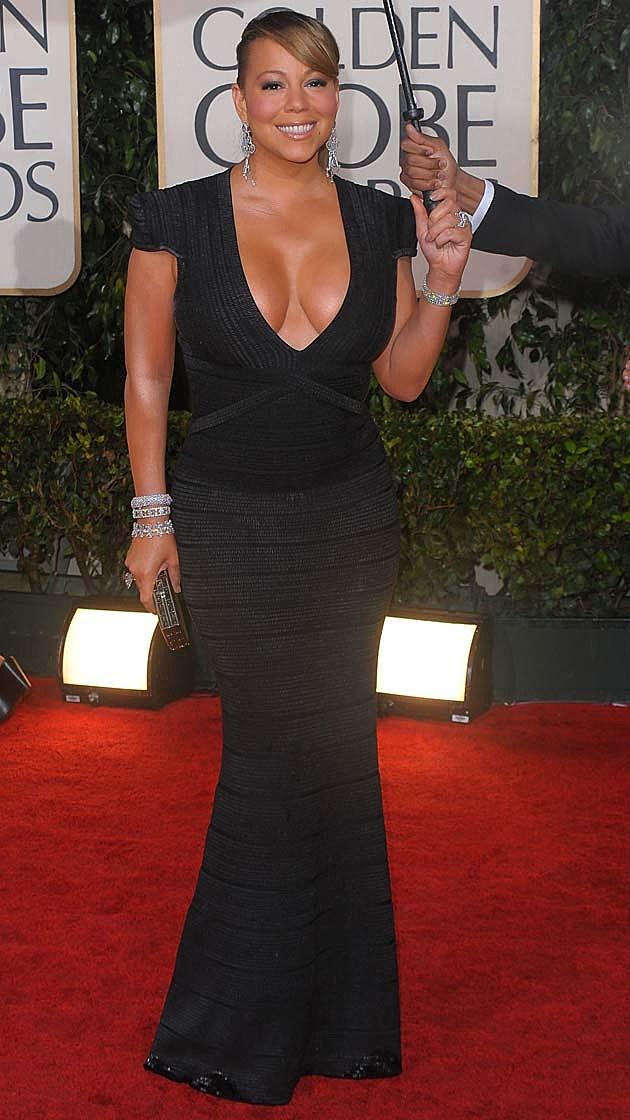 Mariah Carey Black Herve Leger
