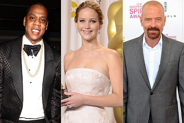Jay-Z Jennifer Lawrence Bryan Cranston