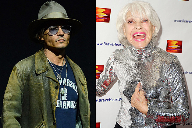 Johnny Depp Carol Channing