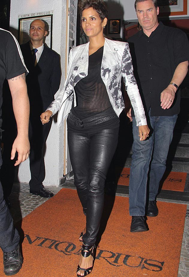 Halle Berry Leather