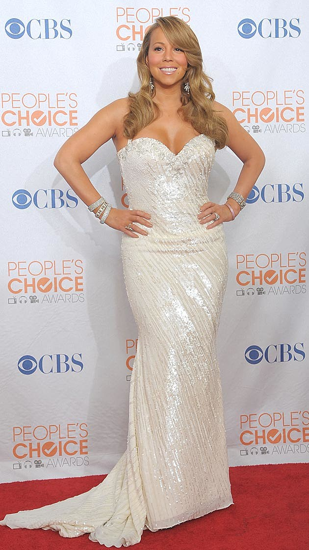 Mariah Carey White Gown 2010 PCAs
