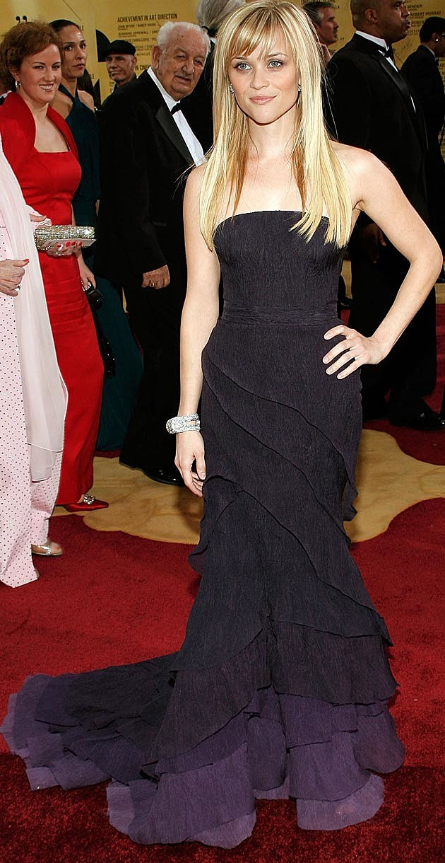 Reese Witherspoon Nina Ricci Theyskens Purple Oscars 2007