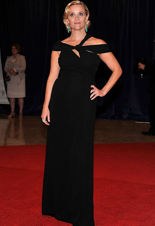 Reese Witherspoon Monique Lhuillier White House Correspondents Dinner 2012