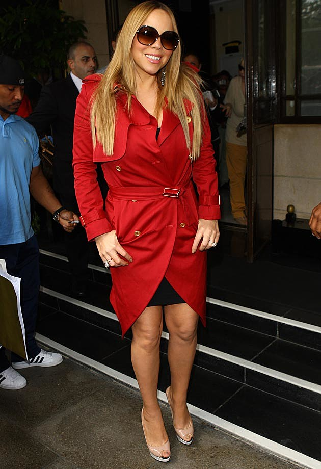 Mariah Carey Red Trench