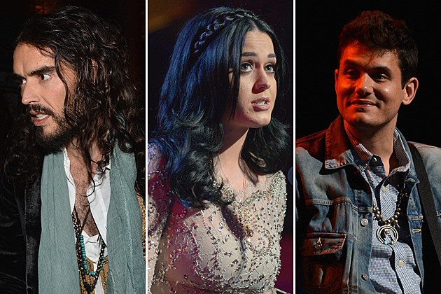 Russell Brand Katy Perry John Mayer Getty