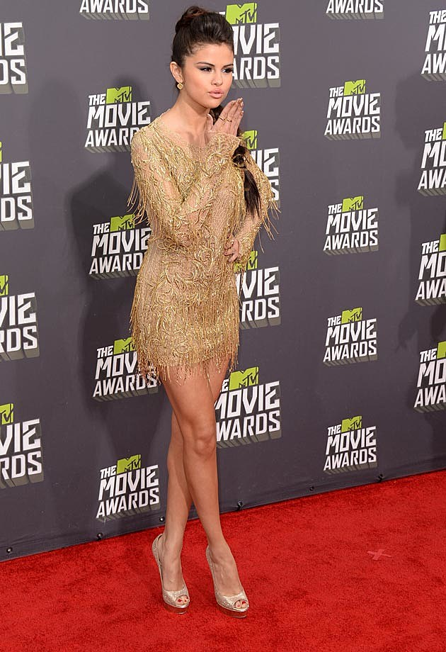 Selena Gomez Julien McDonald 2013 MTV Movie Awards