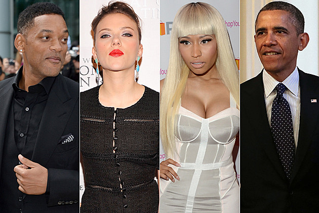 Will Smith Scarlett Johansson Nicki Minaj Barack Obama