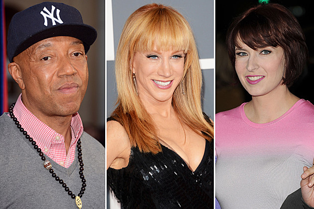 Russell Simmons, Kathy Griffin, Diablo Cody