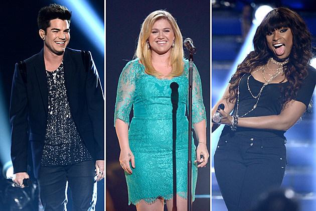 American-Idol-Adam Lambert Kelly Clarkson Jennifer Hudson