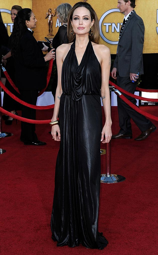 Angelina Jolie Jenny Packham SAG 2012