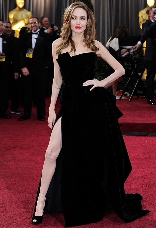 Angelina Jolie Atelier Versace Oscars 2012