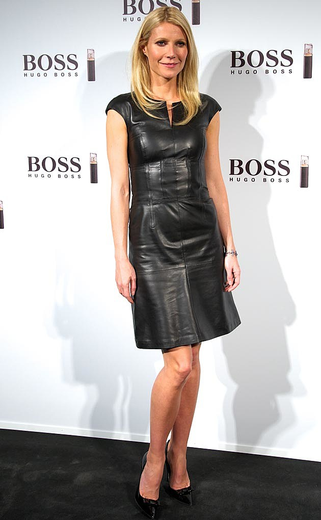 Gwyneth Paltrow Hugo Boss Black Leather