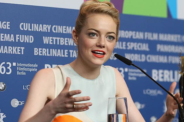 Emma Stone Orange Lips