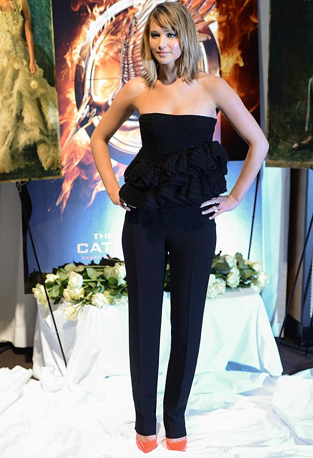 Jennifer Lawrence Dior Jumpsuit Bustier Cannes Photo Call