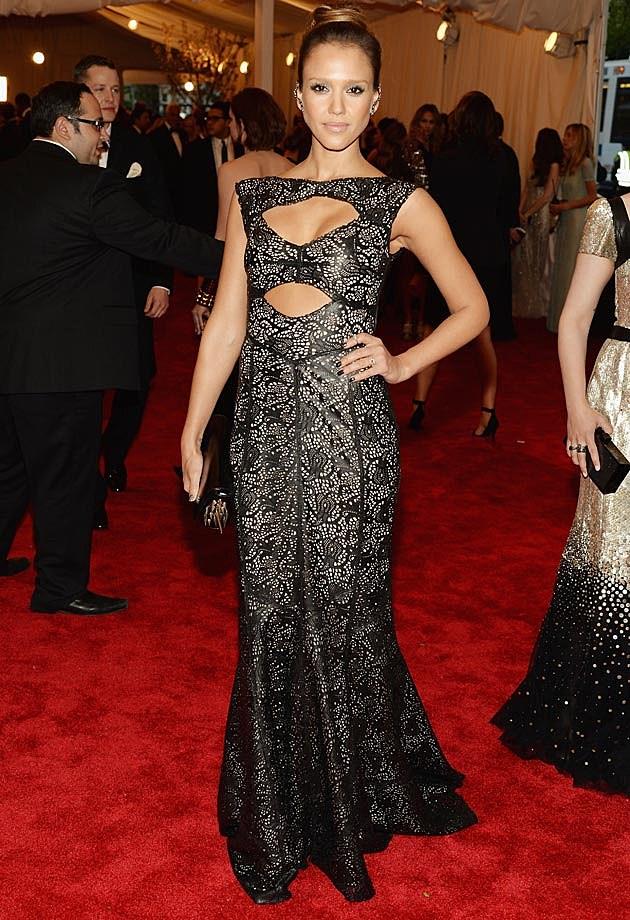 Jessica Alba 2013 Met Gala Tory Burch