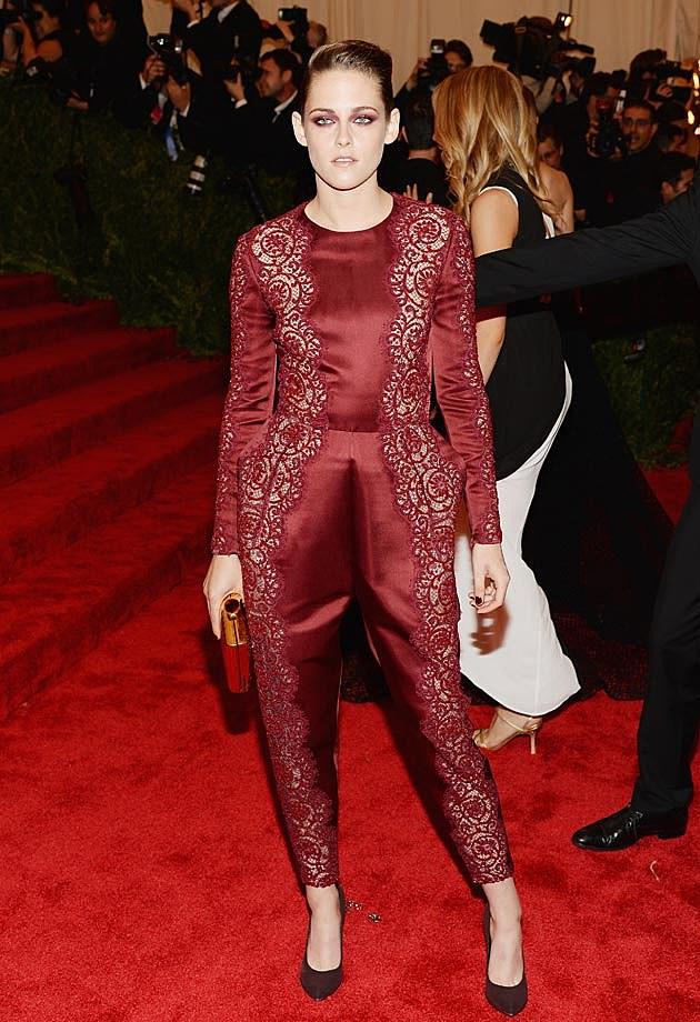 Kristen Stewart 2013 Met Gala Stella McCartney Pantsuit