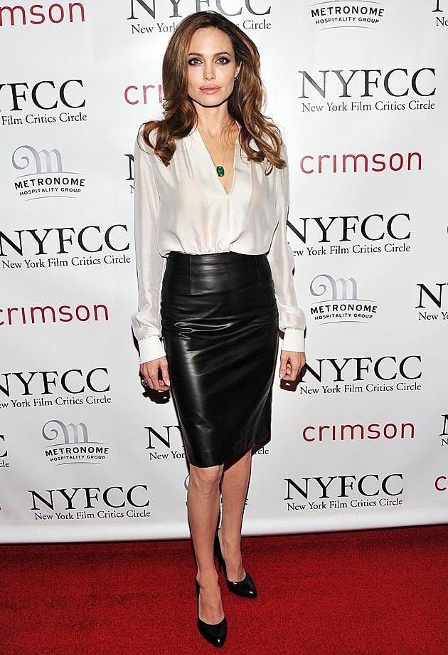 Angelina Jolie Leather Ferragamo