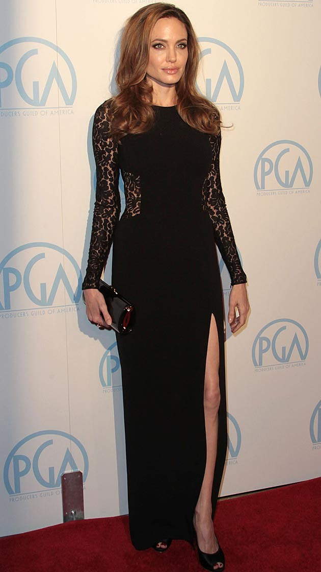 Angelina Jolie Black Michael Kors Lace