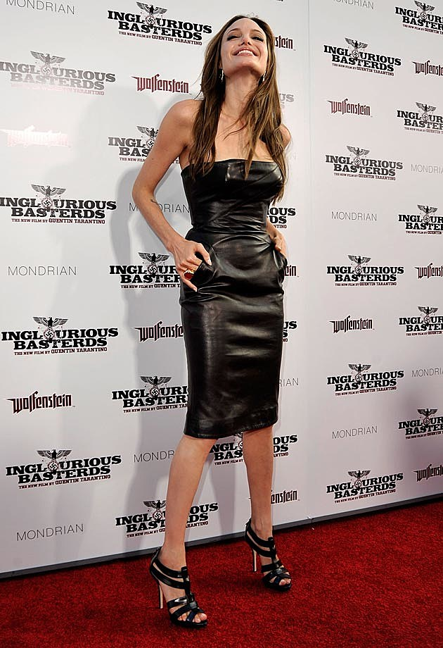 Angelina Jolie Michael Kors Leather Inglorious Basterdz